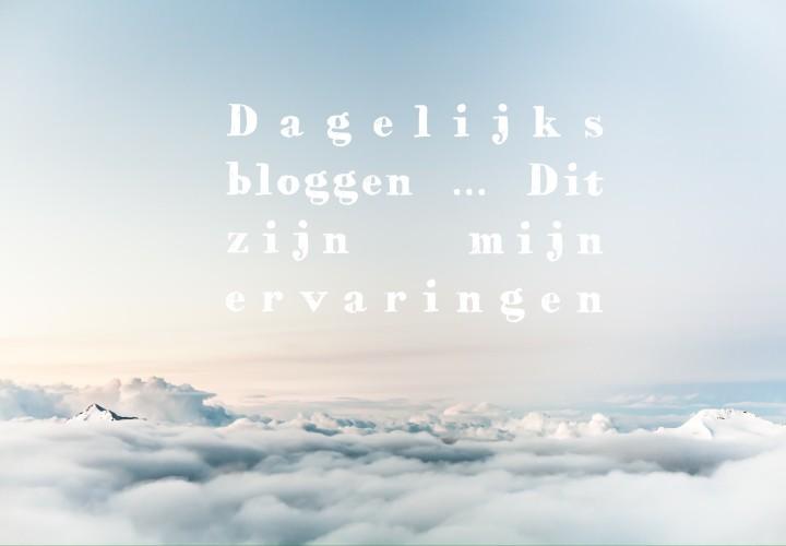 Wat ik leerde van het dagelijks bloggen
