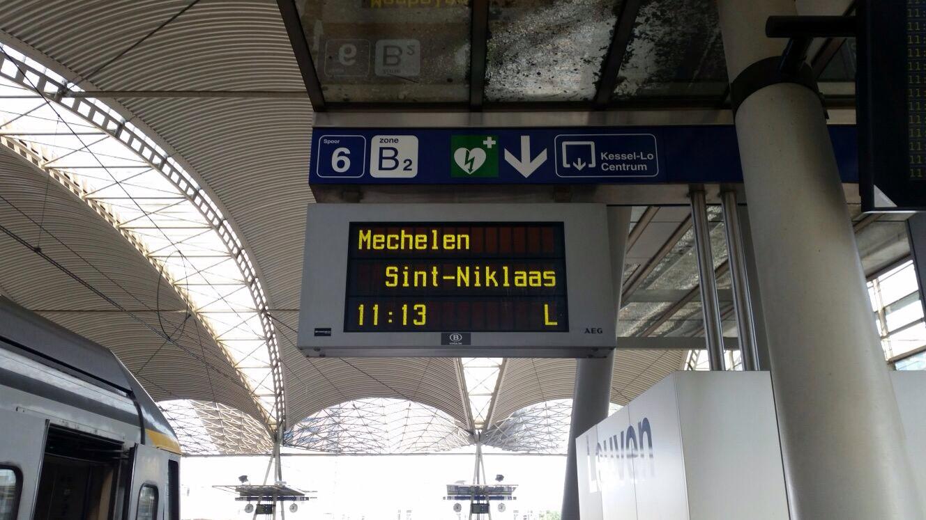 de trein naar mechelen
