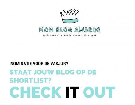 MOM BLOG AWARDS 2017 – Wie staat er al op de shortlist voor de vakjury?