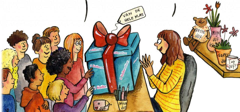 Cadeau leerkracht àltijd een discussie? Niet met Kadonation!